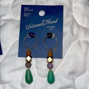 🐠 1 Pair of Nickel Free earrings Semi Prec…